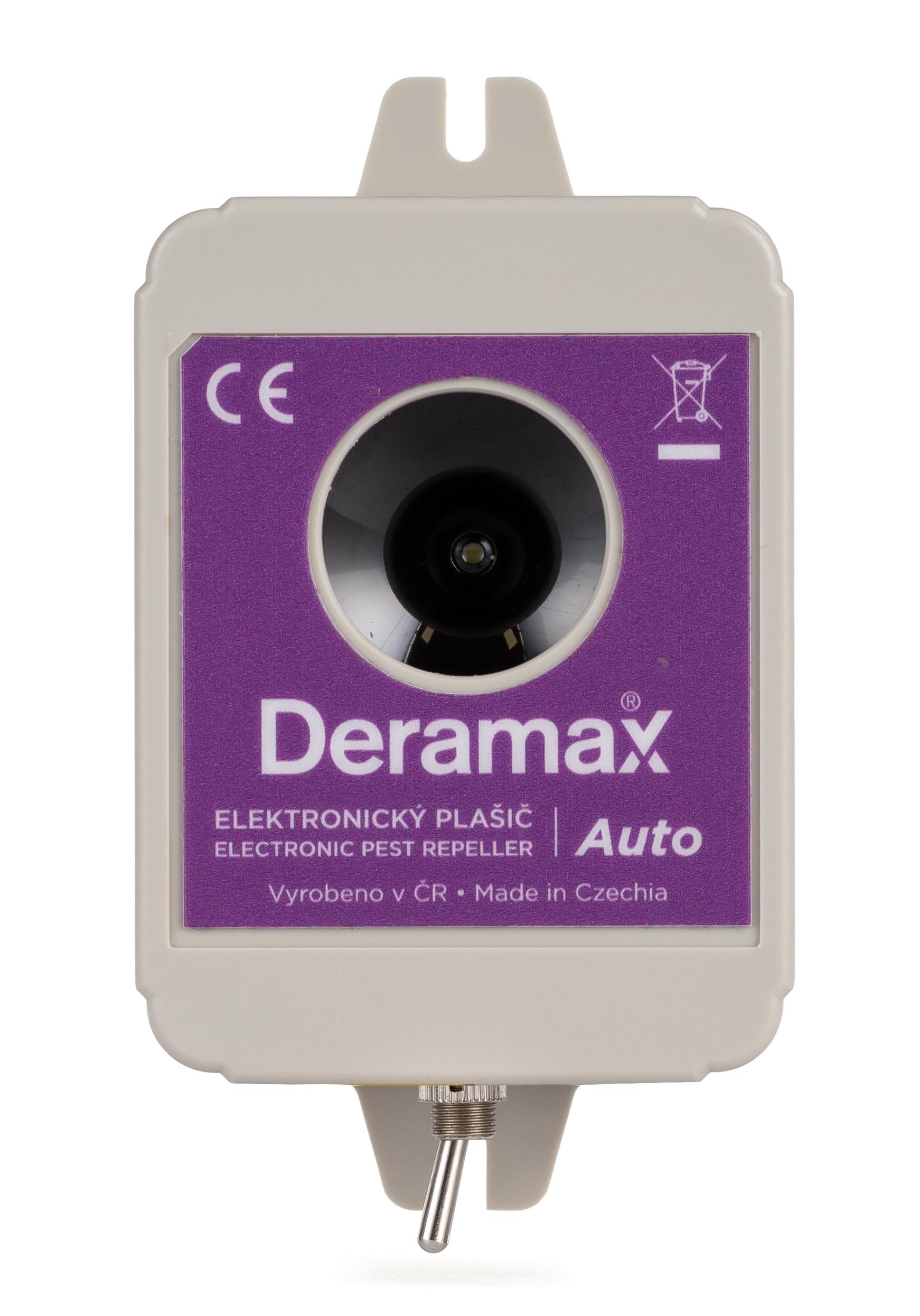 Deramax-Auto Ultrazvukový odpudzovač-plašič kún a hlodavcov do auta