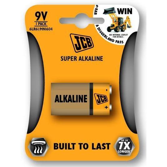 Alkalická batéria 9V JCB SUPER 6LR61, 1 ks