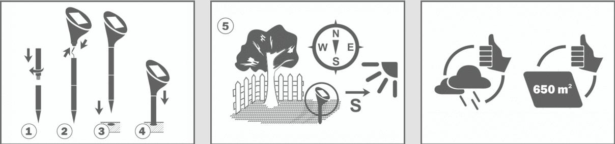 Solárny odpudzovač krtkov a hrabošov Swissinno SuperCat