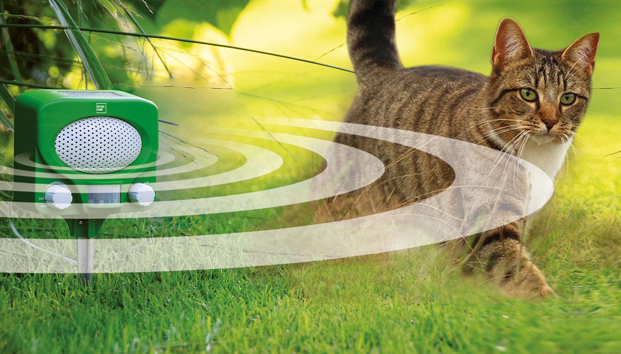 Solárny ultrazvukový odpudzovač zvierat SWISSINNO