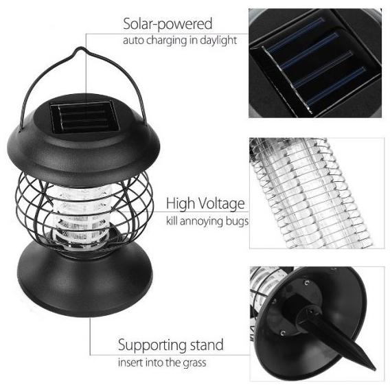 Solárny lapač hmyzu 2v1 UV LED